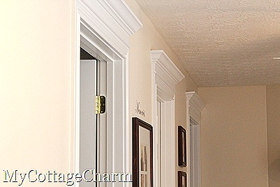 how to make your doors pretty & My Cottage Charm: How to Add Molding to Your Doors- Door Header ... Pezcame.Com