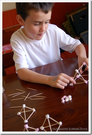 Marshmallow Pyramids ~ Our Aussie Homeschool
