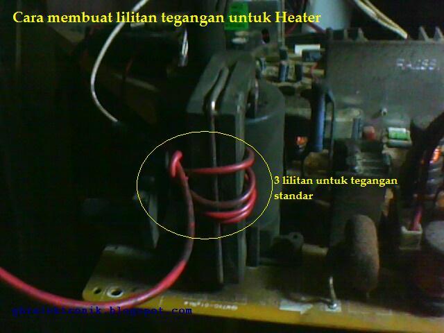 Cara membuat tegangan untuk heater atau filamen