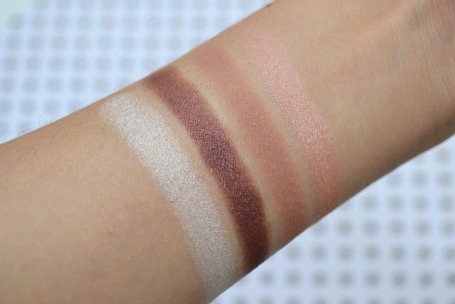 Lise Watier Eyeshadow Quartet in Alex Swatches