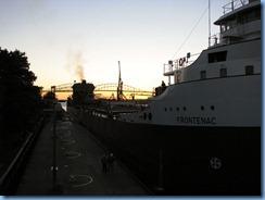 5242 Michigan - Sault Sainte Marie, MI - Soo Locks  - Canadian freighter Frontenac inside MacArthur Lock
