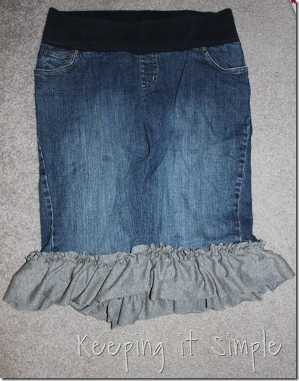 jean skirt refashion (4)