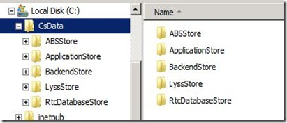 Lync 2013 - DB Location - 1 SE C Only CsData