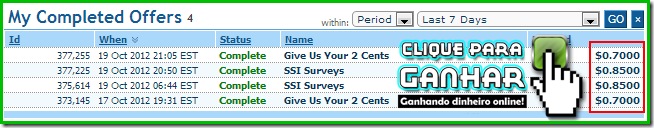 Ofertas completas no ClixSense