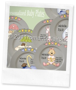 baby plate psotcard