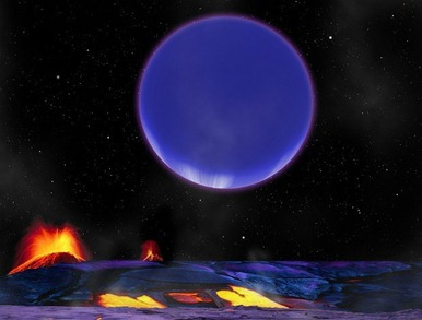 vulcanismo no planeta rochoso pelas marés gravitacionais