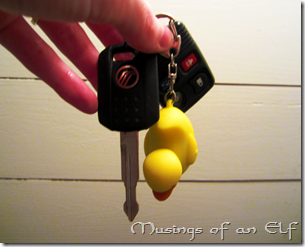 Rubber Ducky Keychain and Keys