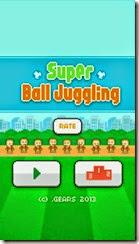 الواجهة الرئيسية للعبة تنطيط الكرة للأيفون وأيباد وأيبود Super Ball Juggling