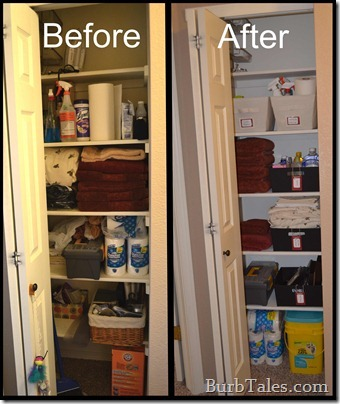Before After Organized Closet