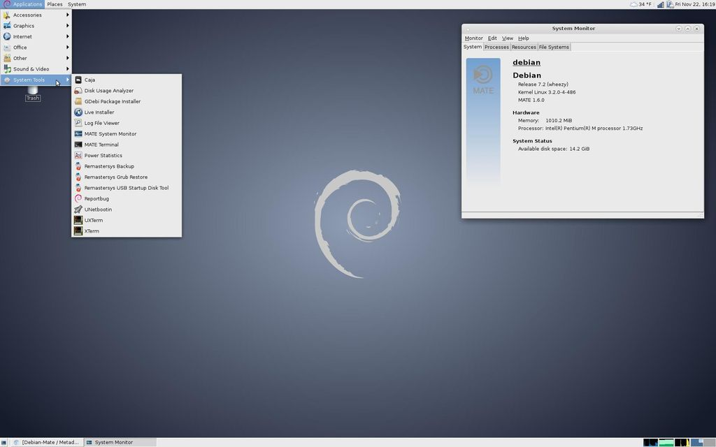 Mate in Debian