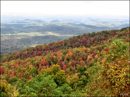 overlook near Tennessee side about 3600 feet elevation