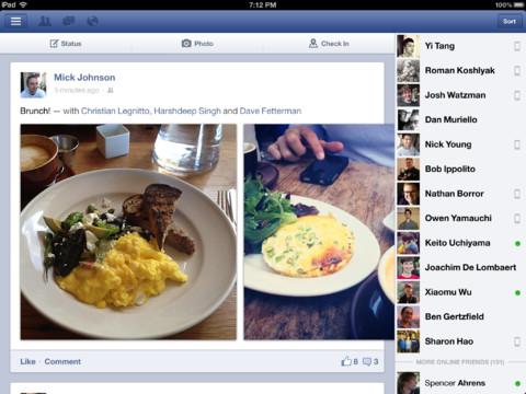 Facebook en el ipad