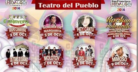 Cartelera teatro del pueblo pachuca 2014 feria de for Motel el marquez