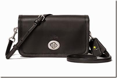 Peanuts X Coach black sling mini bag