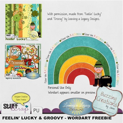 Leaving a Legacy Designs - Follow the Rainbow Wordart Preview