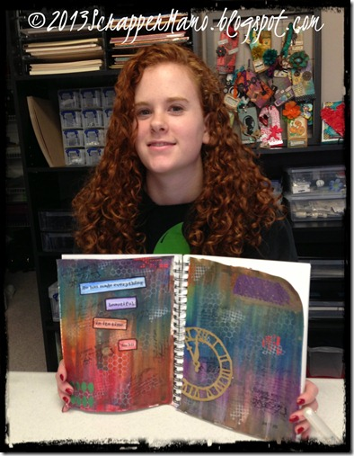 Tory with Art Journal Project