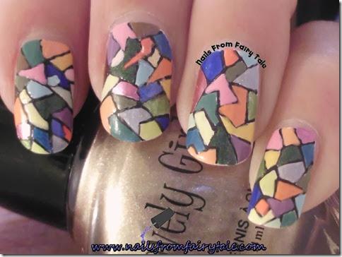 mosaic nail art 3