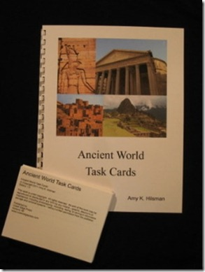 ancient world task card set