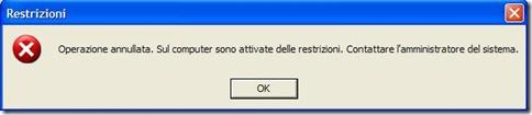 Restrizioni accesso hard disk