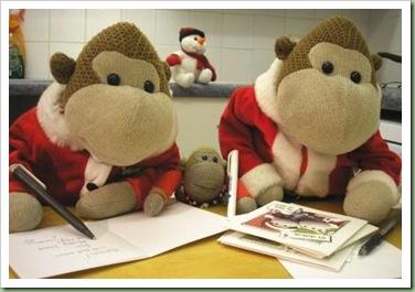 Mums Monkey Christmas Cards