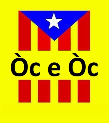 Bandièra Catalonha pel referèndum 09N14 en occitan