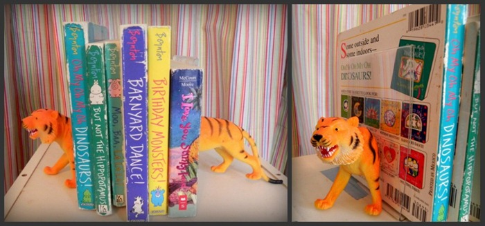 sytyc dollar store kids tiger bookends