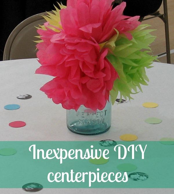 Cheap DIY party centerpieces - Lovely Etc.