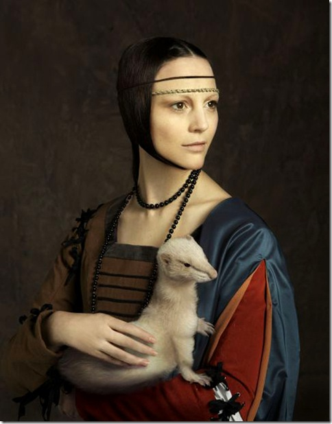 Manuel Outumuro_Leonor Watling. 'La dama del armiño', de Leonardo da Vinci