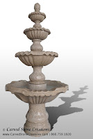 Tall 4-Tier Fountain, Giallo Fantasia Dark