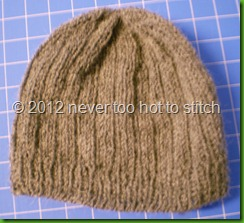 2012 ribbed hat