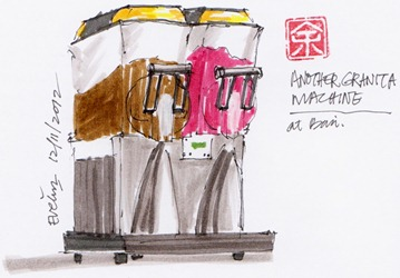 Granita machine drawing