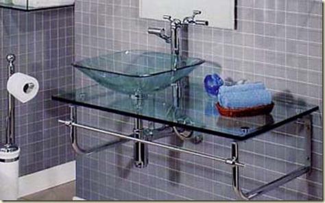 Muebles de cristal para baños 4