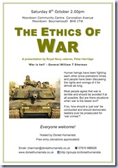 War Ethics poster