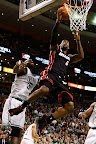 lebron james nba 130127 mia at bos 22 Boston Outlasts Miami in 2nd OT. LeBron Debuts Suede X PE!