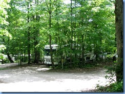 7026 Doe Lake Campground Rizzort - walk around campground - back at our motorhome