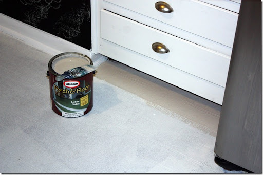Using Some Other Blogsu0027 Recommendations, We Went With A Porch U0026 Floor Paint.  Glidden U201cFossil Greyu201d Was Our Choice Of Color.