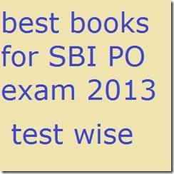 best books for SBI PO exam 2013