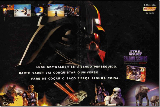 Propagando do star war para n64