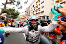 Nico Rosberg happy after winning the Monaco F1 GP for the 2nd time