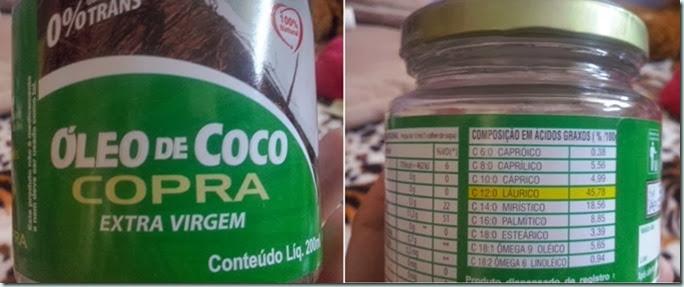Óleo de Coco Extra Virgem para as Hidratações.