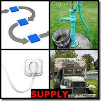 SUPPLY- 4 Pics 1 Word Answers 3 Letters