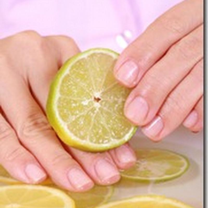 الليمون وزيت اللوز ليدين ناعمة بعد الأعمال المنزلية
