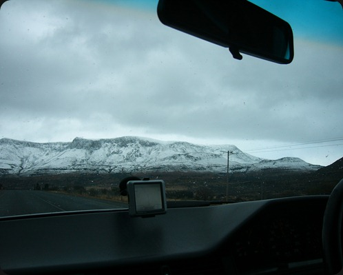 Eastern Cape Snow 2012, Road from Queenstown to Sterkstroom 7