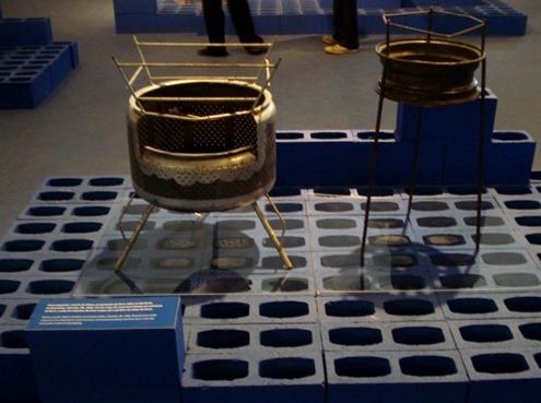 Churrasqueiras de aros de pneu
