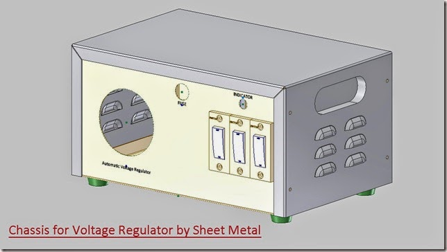 Chassis for Automatic Voltage Regulator by Sheet Metal _2