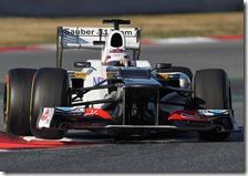 Kobayashi nei test di Barcellona 2012