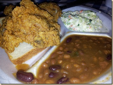 Fried Chicken and Beans