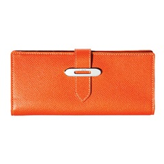 orange tod's wallet