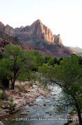 Zion National Park from Virgin River bridge