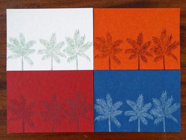Palmtrees imprimés linogravure HeleneB1